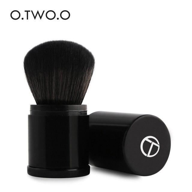 O dos, O profesional retráctil pinceles de maquillaje en polvo Fundación polvo suelto Blush de cepillo