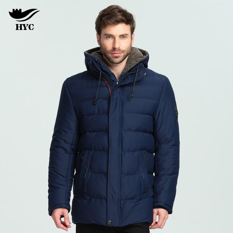 HAI YU CHENG Parka Winter Men Coat Anorak Windbreaker Thickening Coats Cotton Quilted Warm Coat Male Men Winter Jackets Overcoat