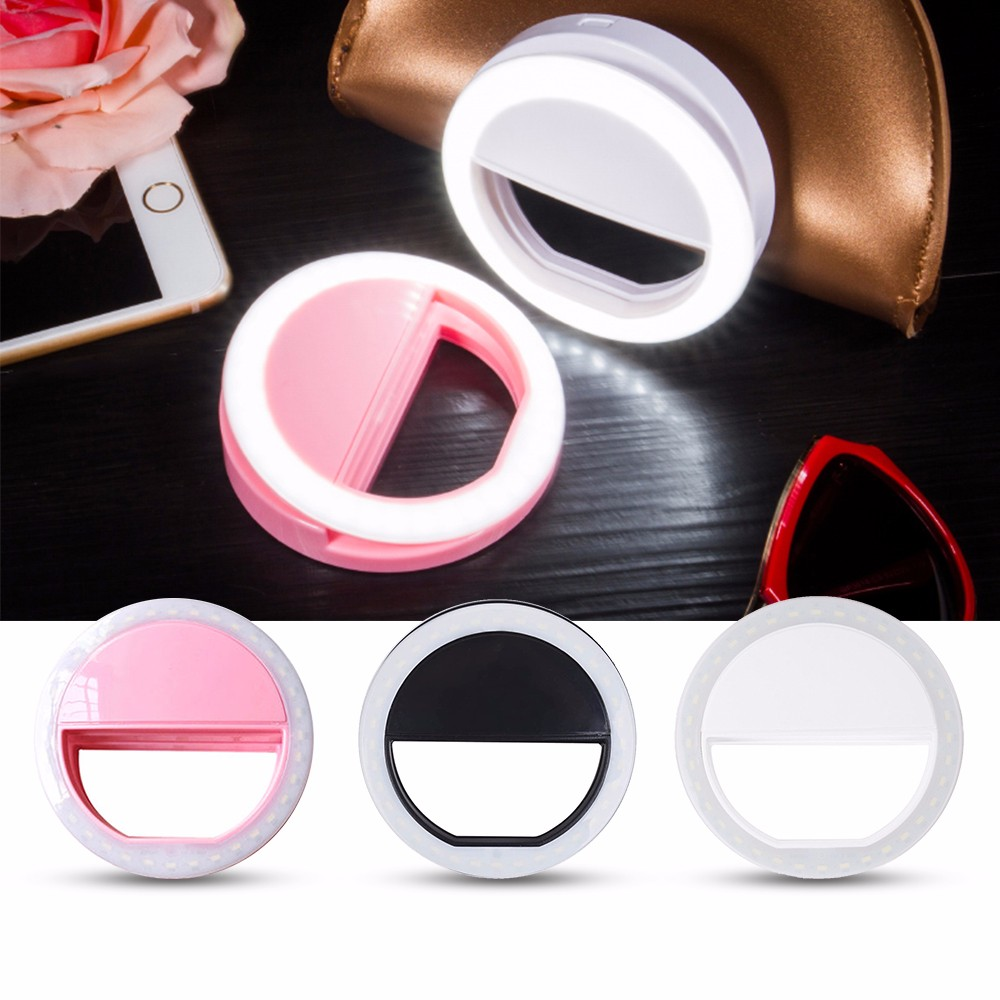 Practical and Portable Selfie Flash LED Phone Camera Ring Light For Apple Iphone Samsung HTC 2
