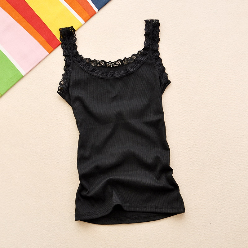 Summer <font><b>Girl</b></font> <font><b>Sexy</b></font> Lace Tank Tops Multicolors Sleeveless Bodycon Temperament T-shirt Vest Lace Camisole Top image
