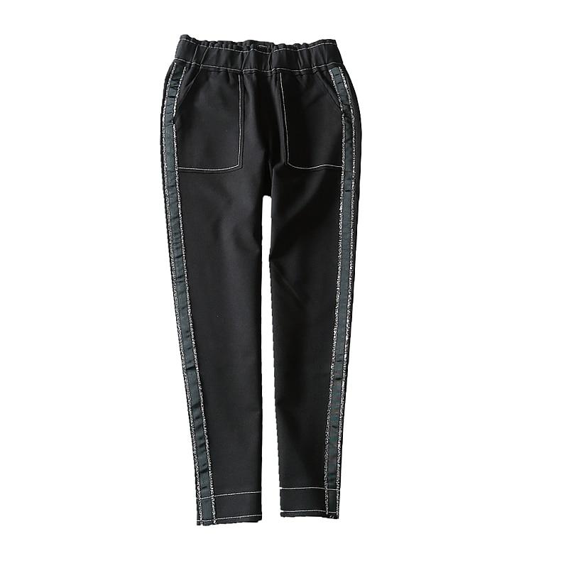 Cintura Tobillo De 2018 Invierno Mediados Plisado Lápiz Samgpilee Punto Casual 27 Otoño El Sólido Mujer Y Black Elástico Nuevo Moda Pantalones longitud 33 wvrxvYqOI
