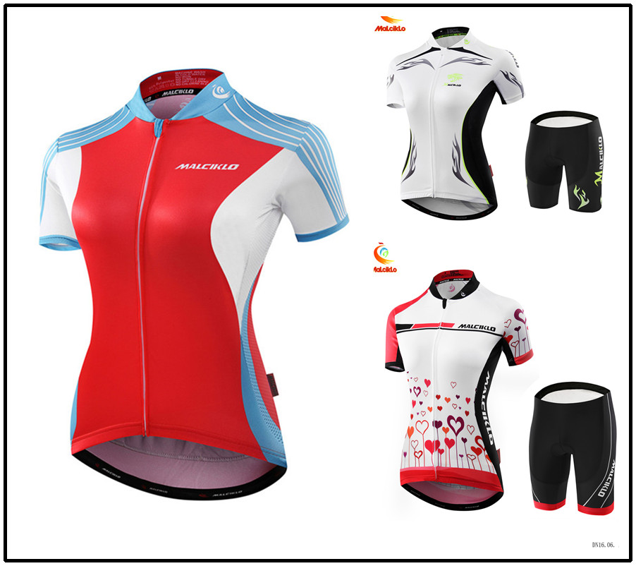 Malciklo Women tenue cyclists clothing ropa maillot ciclismo maillot equipe de france Lady bicycle jersey MTB sportswear
