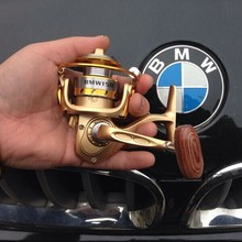BMW NEW HOT 2017 top SALES Mini 150 special for BMW spinning fishing reel 13 Ball Bearings Carbon lightweight wood knob gold