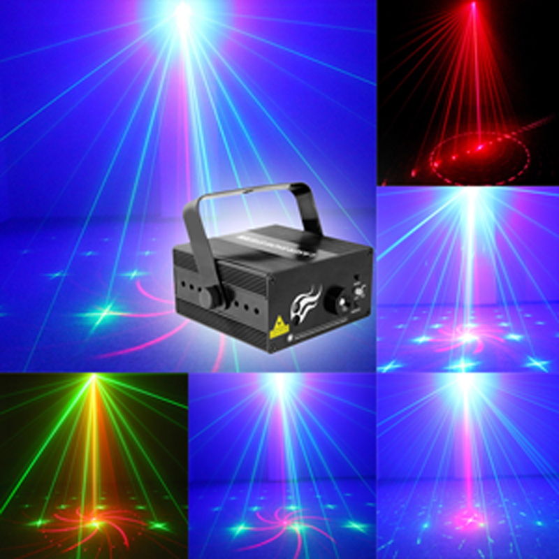 Mini Size 2 Lens 18 Patterns RG BLUE LED Stage New Year Christmas Laser Lighting Projector Party Bar DJ Disco Light (US and EU) new hot 2 lens ceiling lamp laser light stage light dj disco stage 150mw rg recessed laser dj pro show lighting