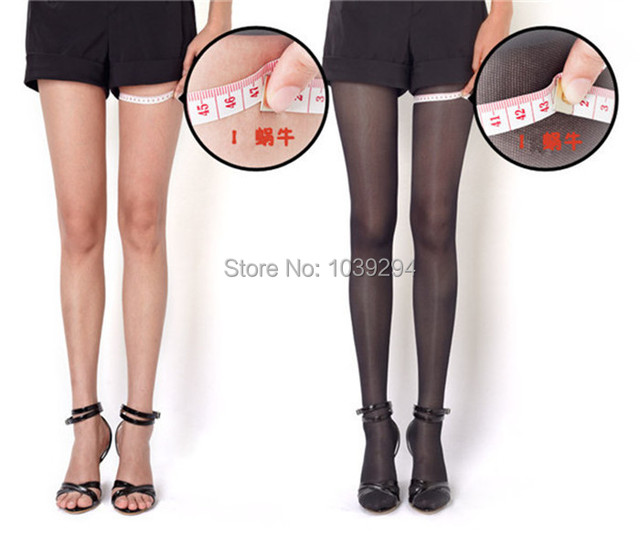 Hot680d Thin Compression Fat Burning Stockings Leg Shaper Varicose Veins Pantyhose For Women Slimming Tights