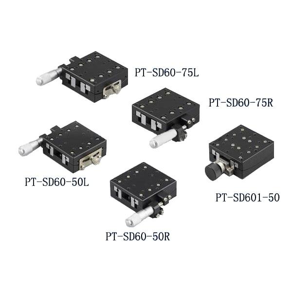 PT-SD60-50R/L PT-SD60-75R/L Precise Manual Goniometer Stage, Optical Sliding Table, Goniometer Platform