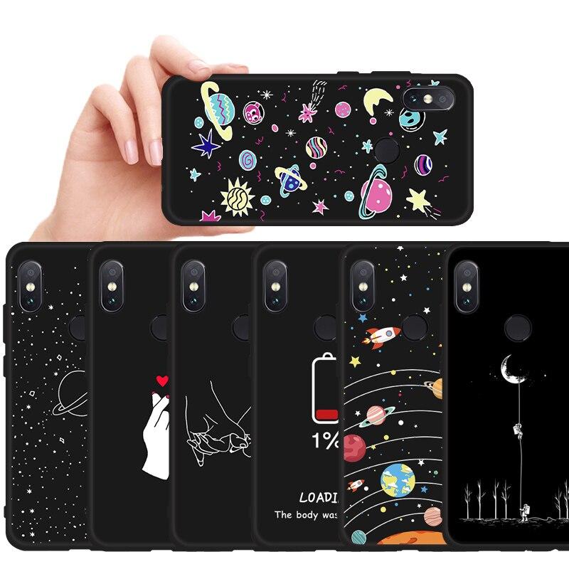 Patterned Phone Case For Xiaomi Mi 8 A2 Lite A1 A3 9 9T Pocophone F1 Matte Cover Redmi 5 Plus 6 Pro 6A 7 Note 8 6 7 Pro Soft TPU(China)