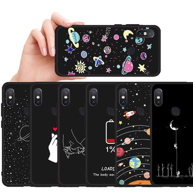 Patterned Phone Case For Xiaomi Mi 8 A2 Lite A1 Pocophone F1 Matte Cover Redmi 5 Plus 6 Pro 6A 4X Note 5 6 Pro S2 Soft TPU Shell