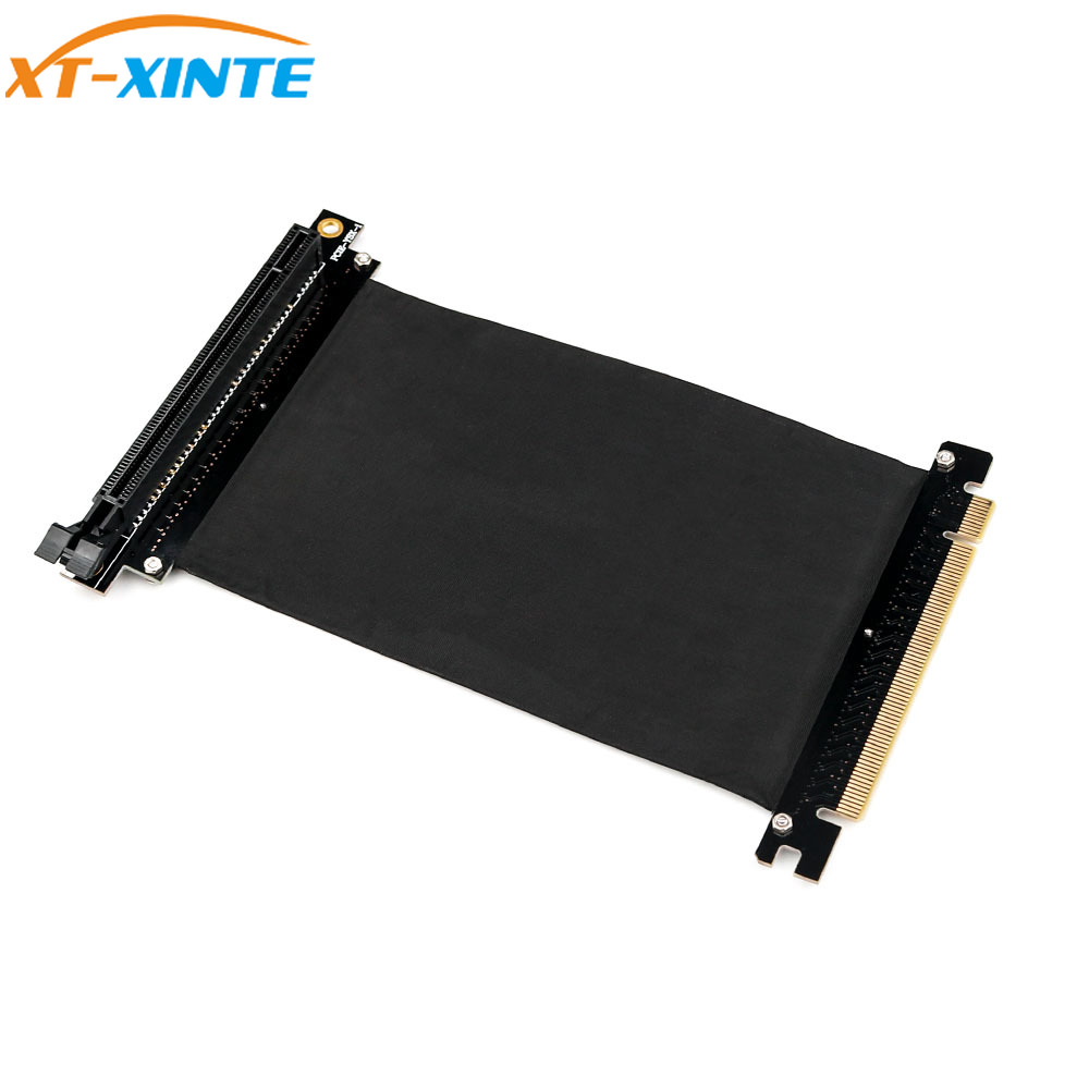 <font><b>PCI</b></font> Express <font><b>x16</b></font> to PCIE <font><b>x16</b></font> Male to Female Graphics Card <font><b>Riser</b></font> <font><b>PCI</b></font> <font><b>E</b></font> PCIE3.0 <font><b>PCI</b></font>-<font><b>E</b></font> 16x Ribbon Extension Cable for Mining image