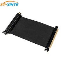 PCI Express x16 ถึง PCIE x16 ชายกราฟิกการ์ด Riser PCI E PCIE3.0 PCI E 16X Ribbon EXTENSION CABLE สำหรับ Mining