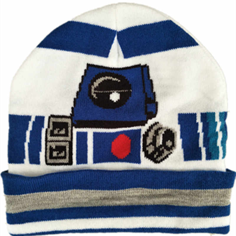 d7b8463f62a Wars Darth Vader Stormtrooper R2D2 Knitted Cap Cartoon Fashion Mask Beanies  for Adult Kid Cap Winter