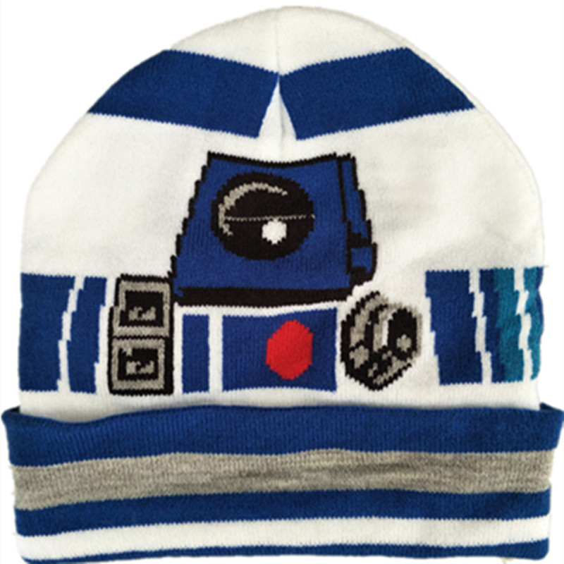 777068a382f Wars Darth Vader Stormtrooper R2D2 Knitted Cap Cartoon Fashion Mask Beanies  for Adult Kid Cap Winter Warm Galactic Republic Hats
