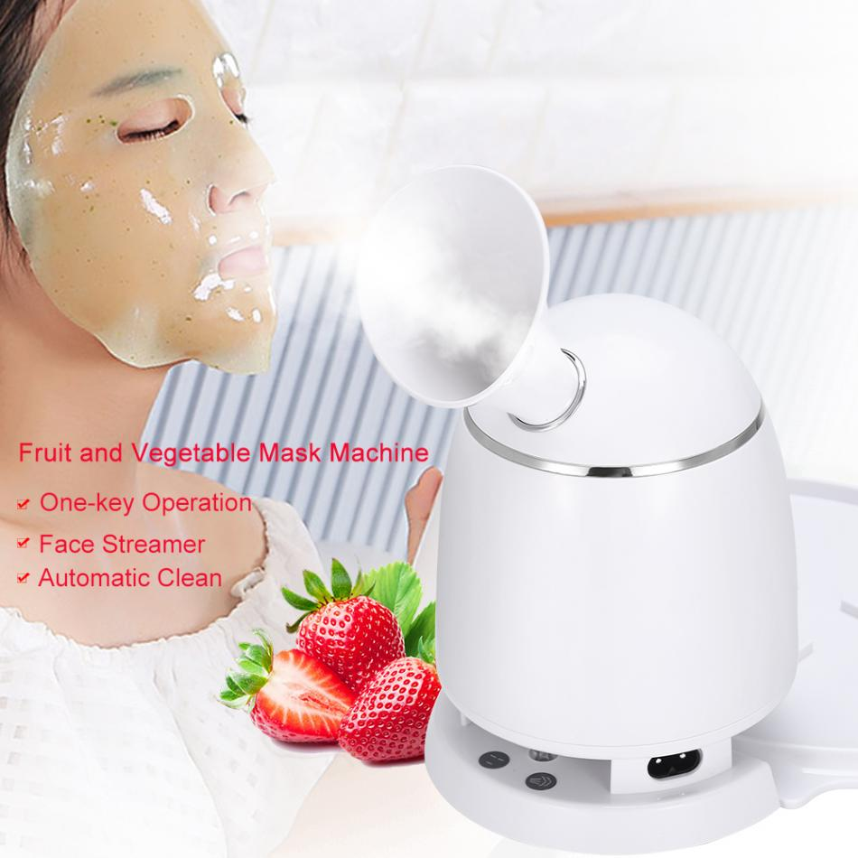 Automatic Facial Mask Machine & Face Steamer Natural Organic Fruit Mask Maker Steamer DIY Facial Mask Collagen Skin Care Tools 4 in 1 diy facial mask maker set mixing bowl stick brush measuring spoons blue white