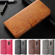 Luxury PU Leather Wallet phone cover Voor Galaxy Note 9 S9 Plus Flip book case S6 S7 S8 A8 2018 Stand Bag Case