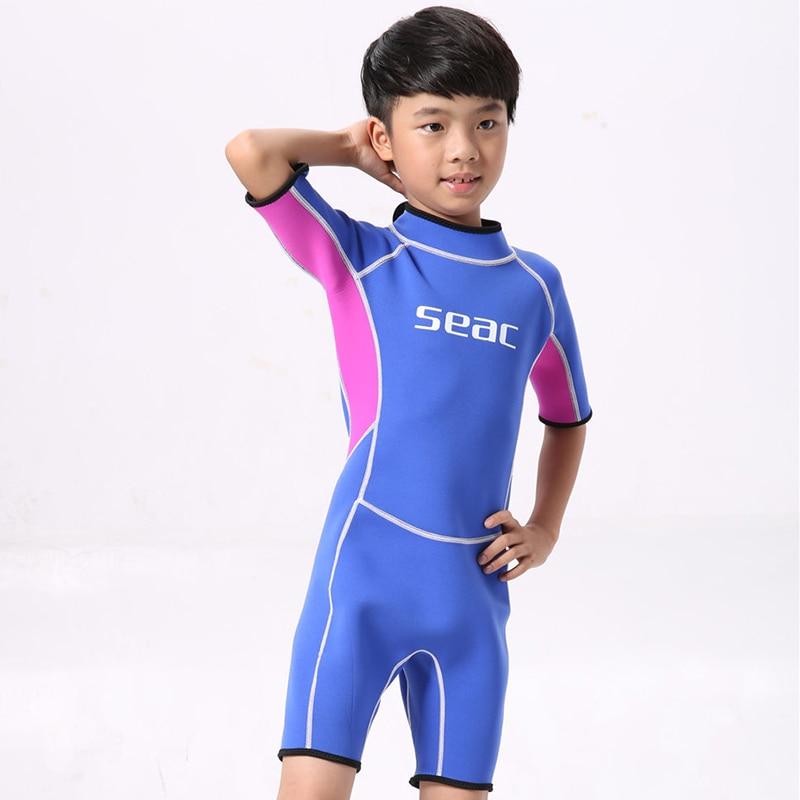 2.5mm Neopren mayo Uşaq Baby Boys Qızlar Wetsuits Snorkeling - İdman geyimləri və aksesuarları - Fotoqrafiya 6