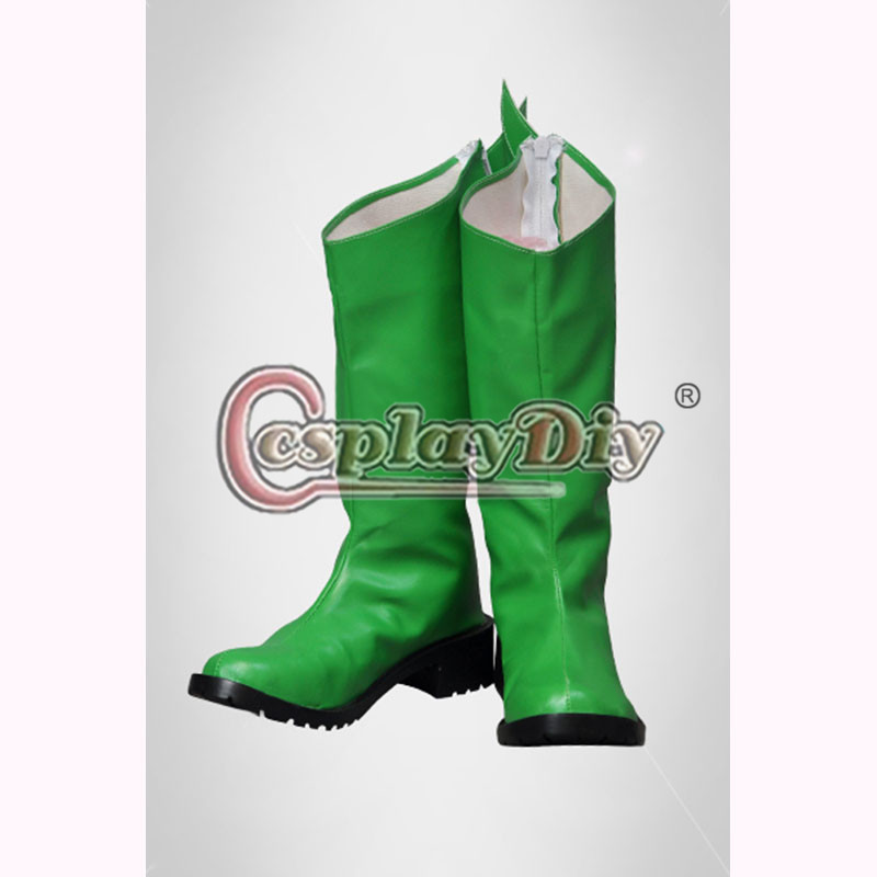 цены Poison Ivy Boots Adult Women Girls Halloween Party Green Knee High Boots Custom Made