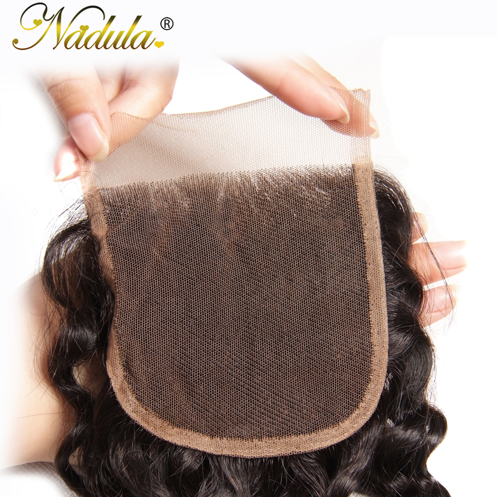 Nadula Hair 10-20INCH  Natural Wave Closure 100%  s 4*4 Free Part Swiss Lace Closure  4