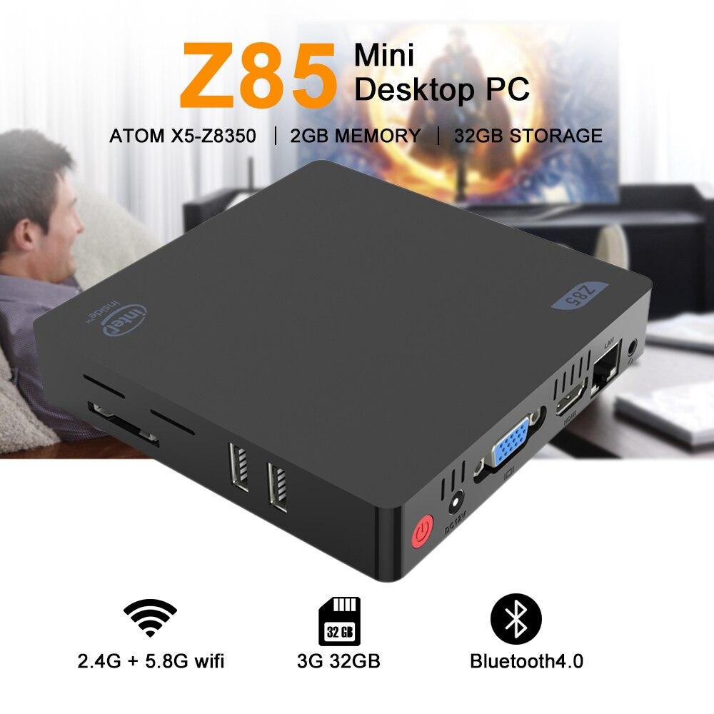 Z85 Mini PC 2GB 32GB/64GB Dual-screen Display 4Kx2K Smart Media Player 2.4 5.8GHz Dual Bnad WiFi Ethernet 1000Mbps Upgraded Z83Z85 Mini PC 2GB 32GB/64GB Dual-screen Display 4Kx2K Smart Media Player 2.4 5.8GHz Dual Bnad WiFi Ethernet 1000Mbps Upgraded Z83