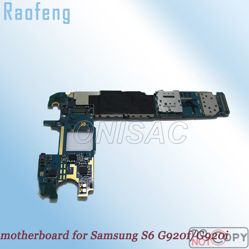 Raofeng Disassemble Good work Unlocked for Samsung galaxy S6 G920f/G920i motherboard whole function mainboard with full chip(China)