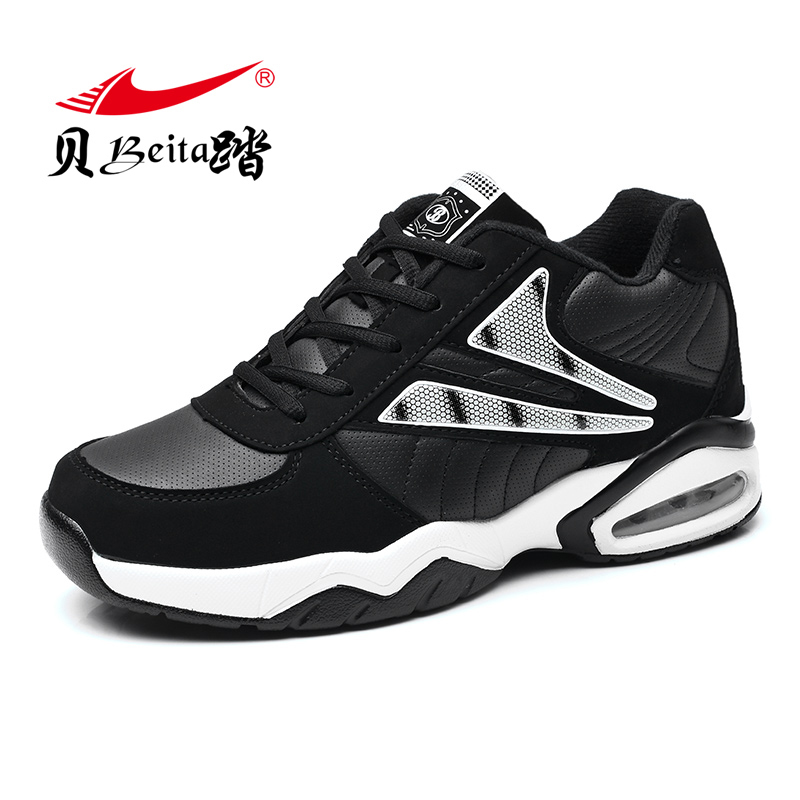 Beita New Arrival Autumn/Winter Men Sneakers women Low Top Sneakers Leather Athletic Shoe Men's Trainers Air Trail Running Shoes beita brand new winter sports shoes warm air cushion running shoes for men 2016 leisure sneakers men size eu39 44