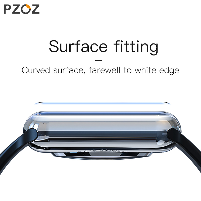 Image 3 - PZOZ For iWatch 4 3 Hydrogel Film Full Screen Protector Glass For Apple Watch 1 2 3 4 Tempered Film HD Curve Edge Glass 38/42mm-in Smart Accessories from Consumer Electronics