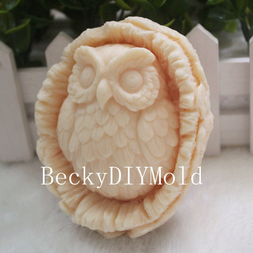 wholesale!!!1pcs The Owl&Basket (zx03) Silicone Handmade Soap Mold - Arts, Crafts and Sewing - Photo 1