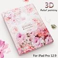 Роскошный Дизайнерский Чехол Для iPad Pro 12.9 дюймовый Tablet Смарт Стенд дело 3D Рельеф Тиснением Для iPad Pro12.9 Cover case + Подарок