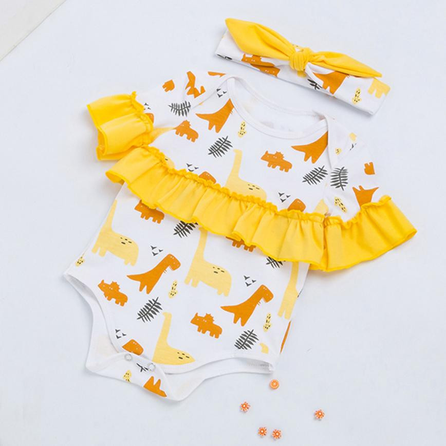 cute new born baby girl clothes Infant little Girls 2018 summer Print Rompers Outfits Clothes baby girl onesie tiny cottons