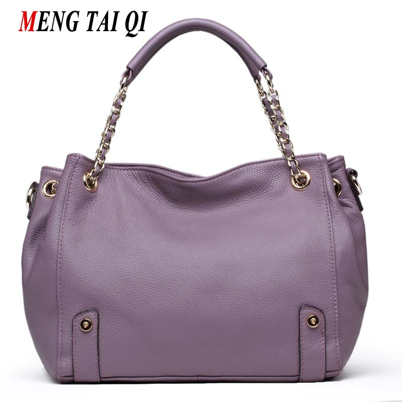 Hot Cowhide Women Bags Ladies Totes Women Messenger Bags Chains Cross Body Shoulder Bag Woman Designer Handbags High Quality 4 designer women handbags black bucket shoulder bags pu leather ladies cross body bags shopping bag bolsa feminina women s totes