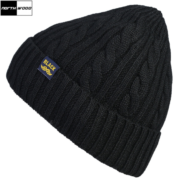 f4906bbe5de  NORTHWOOD  Knitted Warm Winter Hats For Men Women Warm Plus Velvet  Skullies Beanies Bonnet Solid Autumn Gorros Mujer Invierno