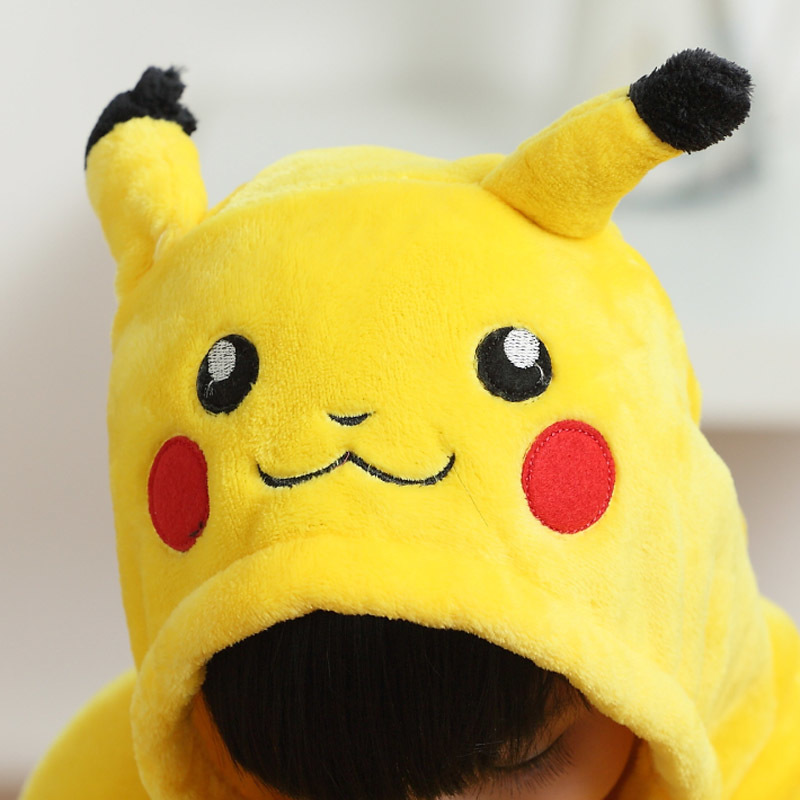 För Halloween jul ny vinter sovsäck tecknad gul Pikachu unisex animal onesies barnkläder pyjamas anime