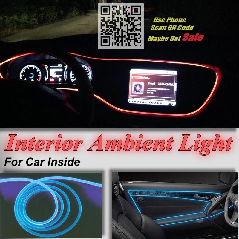 Untuk Audi Q7 4L Mobil Interior Panel Cahaya Ambient pencahayaan - Lampu mobil - Foto 3