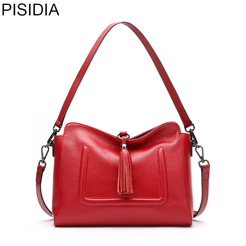 PISIDIA Brand Fashion Genuine Leather Bag Women Messenger Bags Bolsa Handbags Sac a Main Bolsos Mujer Shoulder Crossbody BagPISIDIA Brand Fashion Genuine Leather Bag Women Messenger Bags Bolsa Handbags Sac a Main Bolsos Mujer Shoulder Crossbody Bag