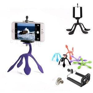 Image 1 - Новейший мини Гибкий штатив для мобильных телефонов, смартфонов, телефонов, подставка для путешествий, Открытый Портативный Прекрасный Gecko Spider