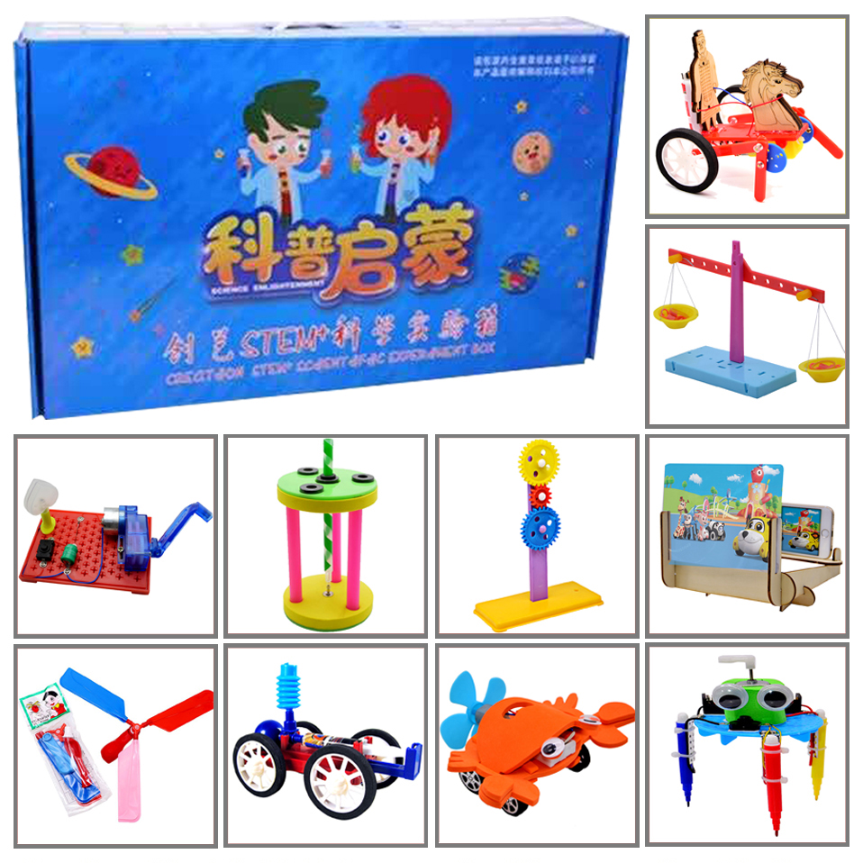 Promotion Pack 8# DIY Toys Ten Kinds Of Different  Electronics Education Self Assembly Kit For:science DIY Kits Child