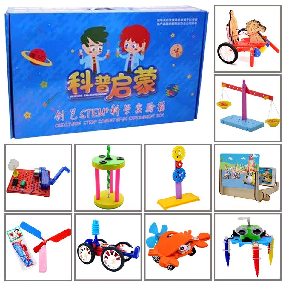 Promotion pack 8 # DIY Jouets dix sortes de différents électronique l'éducation assemblée auto kit pour: science DIY kits Enfant