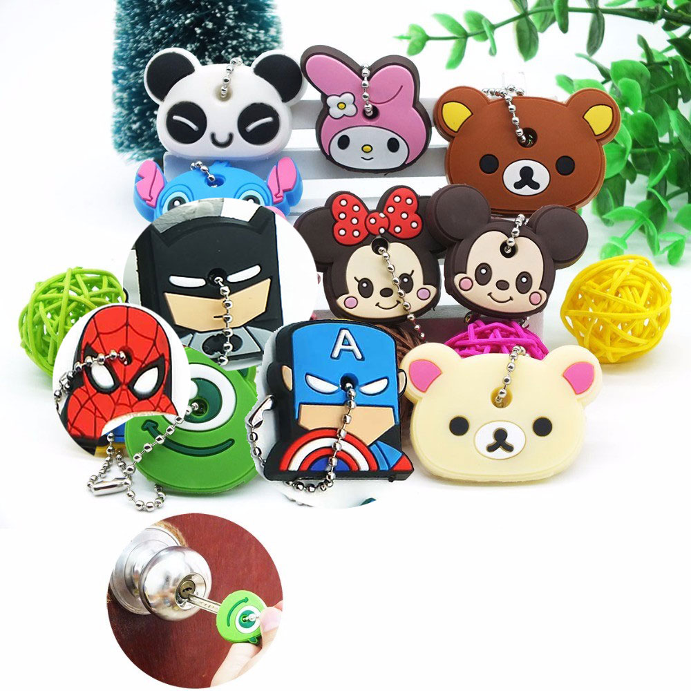 cartoon Silicone Protective key Case Cover For key Control Dust Cover Holder Organizer Home Accessories Supplies|Door Knob Covers|Home & Garden - title=