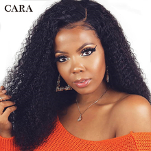 CARA Kinky Curly Full Lace Human Hair Wigs Brazilian Hair Natural Color Pre Plucked Hairline Non-Remy Hair