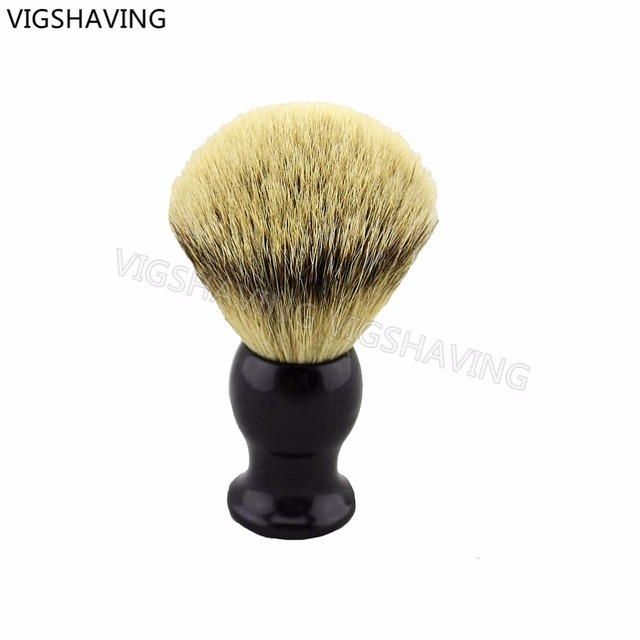22mm Knot Black Resin Handle SilverTip Badger Hair Shaving Brush