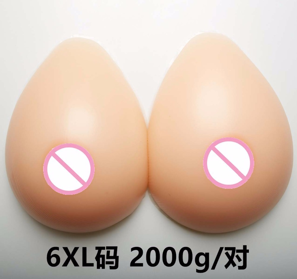 Buy 2000g/pair F Cup Artificial faux seins Fake boobs bust Chest Silicone Breast Forms Tits false breasts crossdresser mastectomy