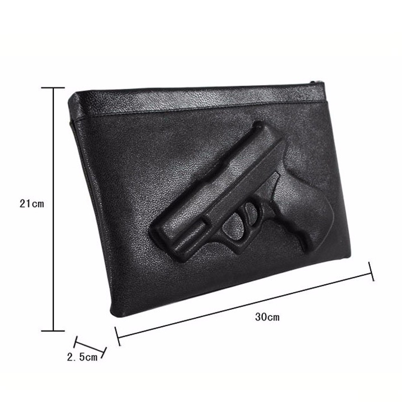 mulheres crossbody bolsa 3d arma Tipos1 : Envelope