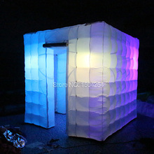 inflatable photo booth tent with colorful led lighting inflatable photo booth studio tent 2.4m toy tent