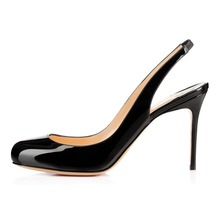 Amourplato Ladies Womens Handmade Fashion Fly 85mm SlingBack Round Toe Sexy Party High Heel Pumps Shoes