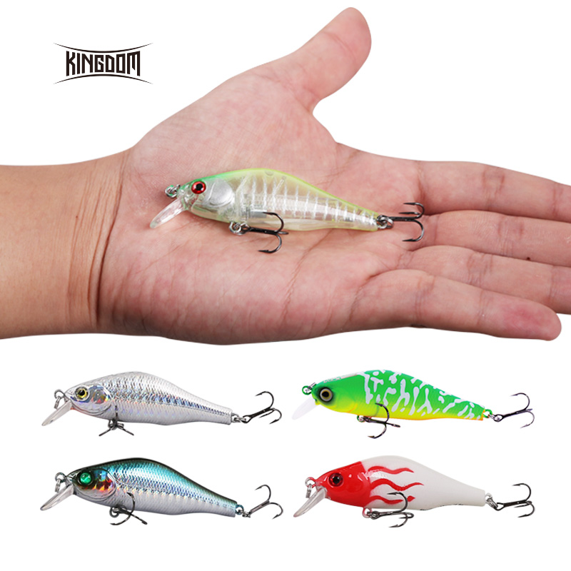 Kingdom 70MM 8G fishing lure wobbler minnow lure artificial bait four colors available model 3504 1pcs 12cm 14g big wobbler fishing lures sea trolling minnow artificial bait carp peche crankbait pesca jerkbait ye 37