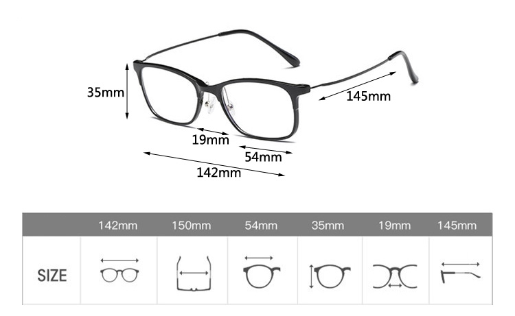 32b194250c15 2019 TR90 Square Glasses Frame Men Vintage Prescription Eyeglasses ...