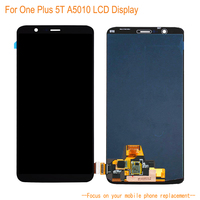 LCD Display For One Plus 5T+ 6.01''Touch Screen Touch Panel Senor Digitizer Mobile Phone Assembly Replacement Black