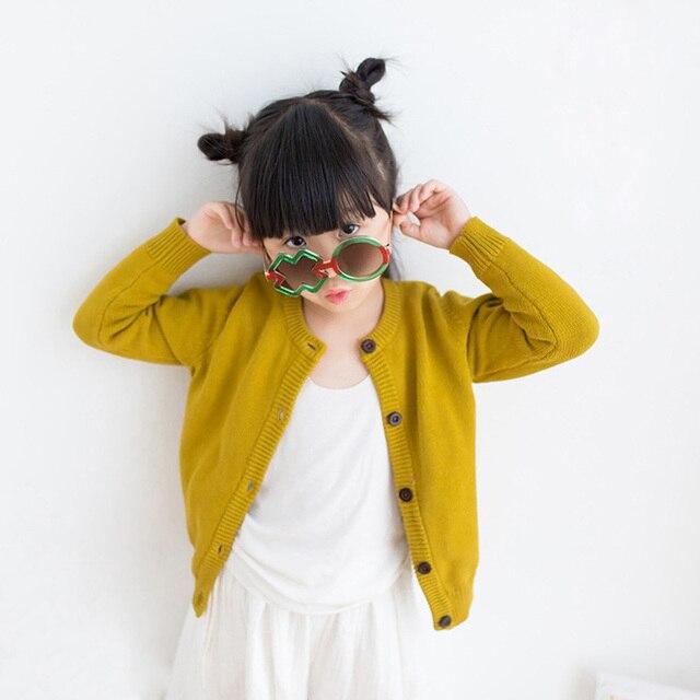 Mùa thu Trẻ Em Cardigan 2018 Thời Trang Chàng Trai Cô Gái Áo Len Áo Len Cotton Đơn ngực Áo Khoác Dệt Kim Trẻ Em Trường Quần Áo RT153