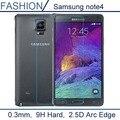 0.3 мм 9 H 2.5D Дуги Край Прозрачный Премиум Закаленное Стекло для Samsung Galaxy Note 4 N9100 note4 Протектор Экрана