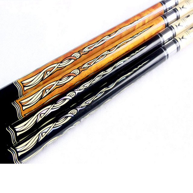 Pool Cues 12.75mm/11.5mm Tip Black Orange Color Billiards Cue Stick China 3