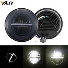 Yait For Nissan Patrol Y60 Hummer H1 H2 7inch Round LED Headlight For Jeep Wrangler TJ JK LJ CJ Land Rover Defender 7